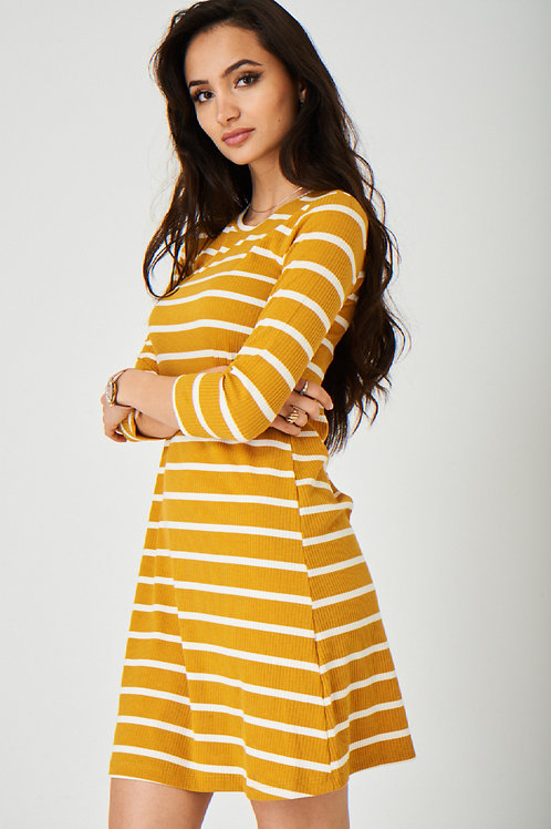 Yellow Dress in Stripes