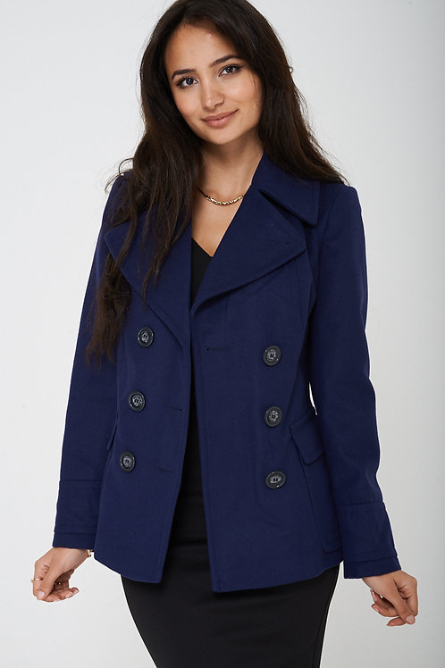 Navy Double Breasted Peacoat