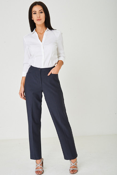 Tailored Grey Straight Leg Trousers