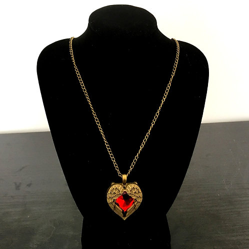 Long Red Heart Chain