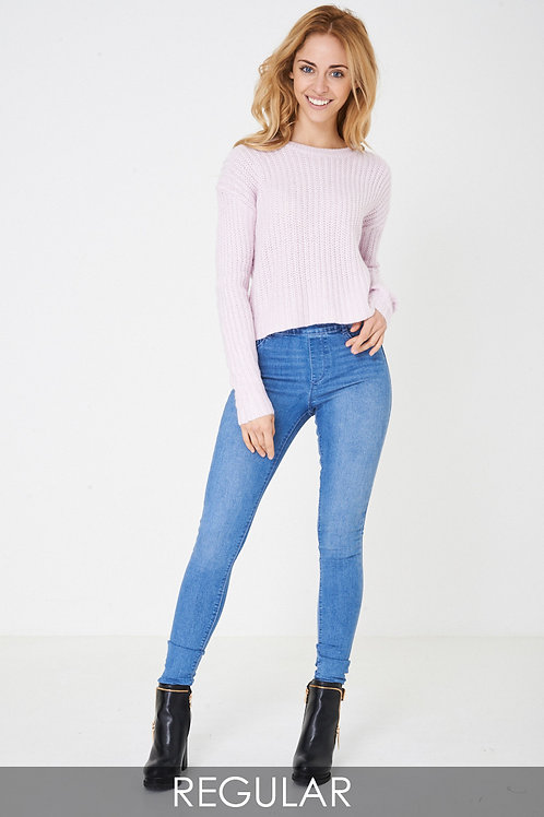 Highwaist Blue Jegging