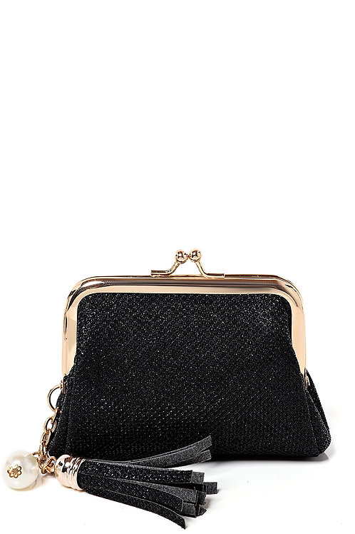 Black Coin Purse with Tassel