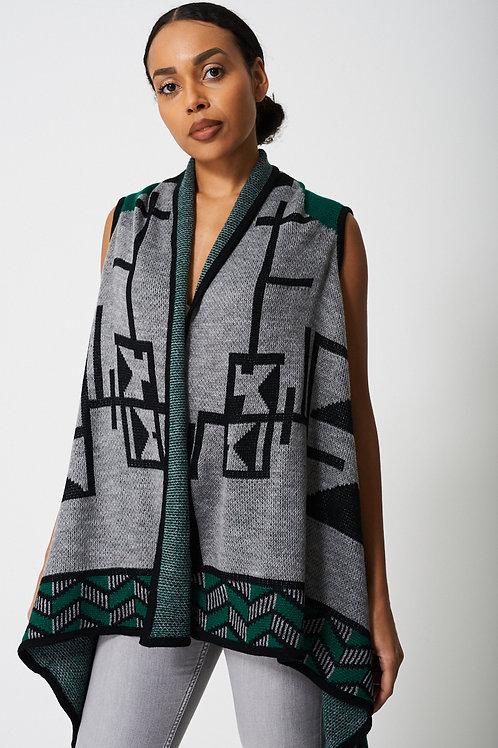 Vintage Inspired Aztec Print Cardigan