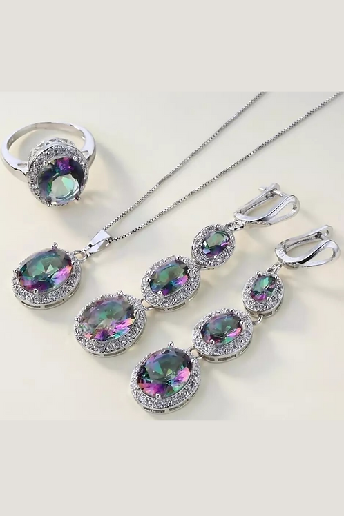 4 Piece Topaz Rainbow Jewellery Set