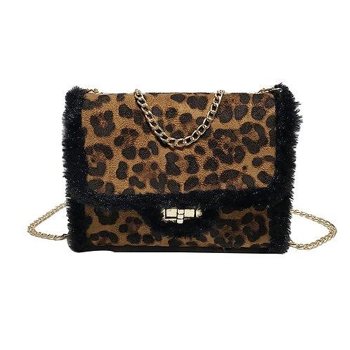 Leopard Luxury Wool Shoulder Bag