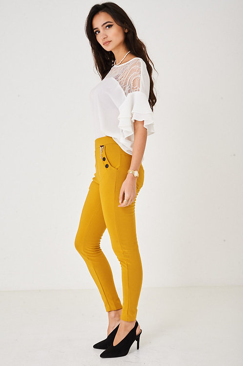 Yellow Skinny Trousers