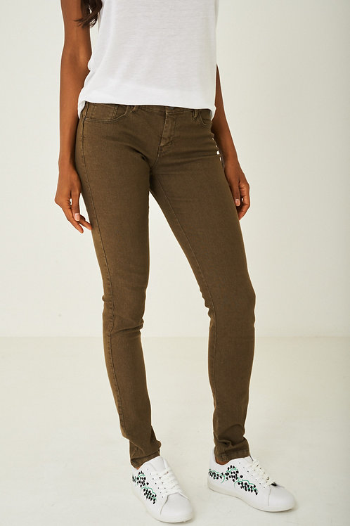 Khaki Regular Cut Jeans