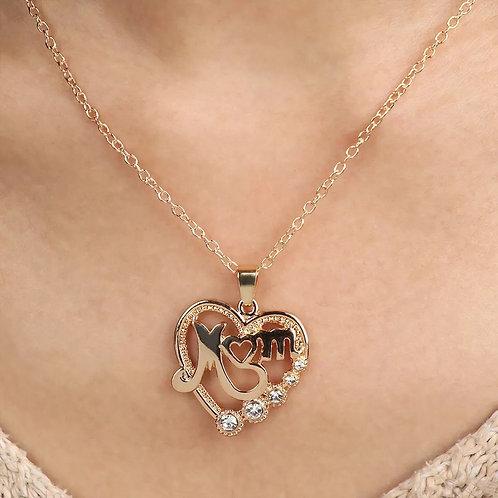 Mum Studded Heart Chain