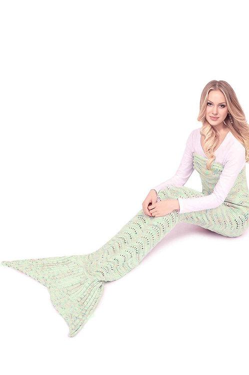 Multicolor Mermaid Tail Blanket
