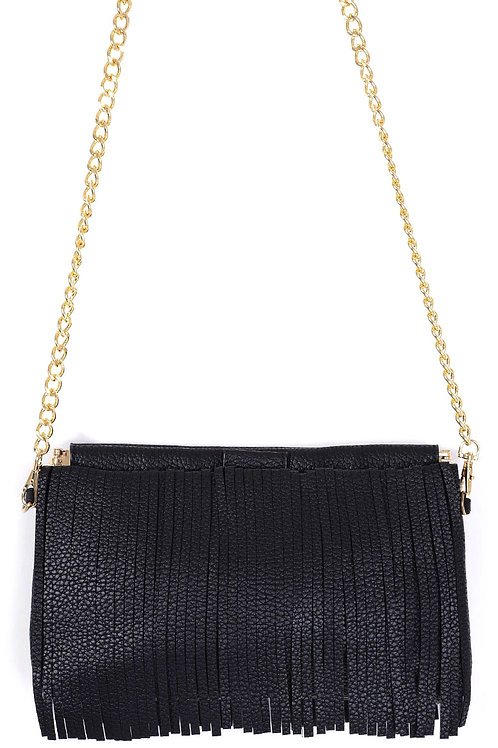 Black Tassel Casual Crossbody Bag
