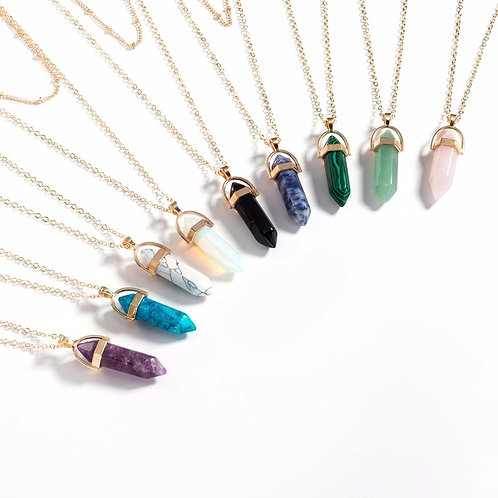 Crystal Pendant Double Necklace