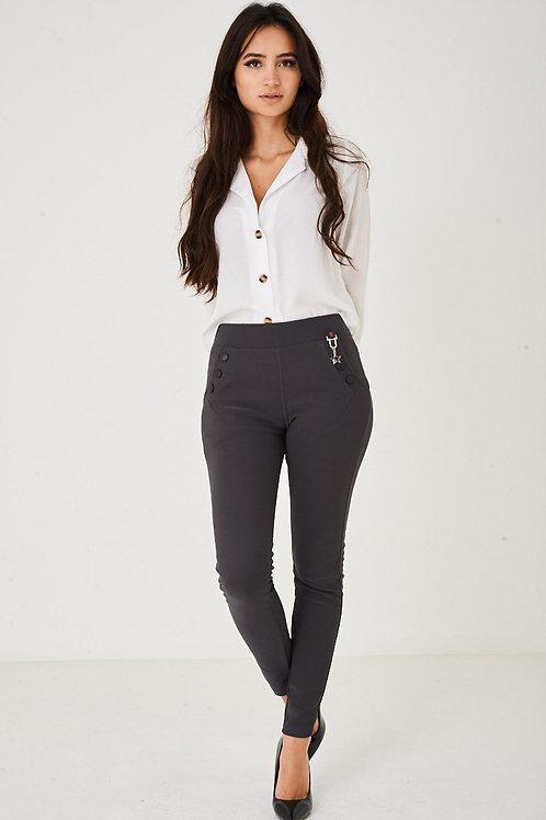 Grey Skinny Trousers