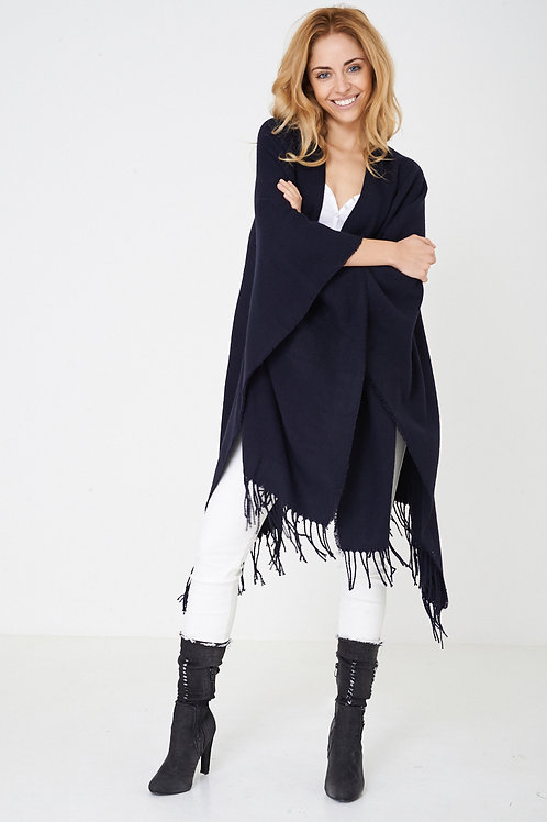 Plain Cape in Navy