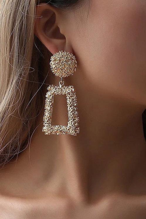 Gold Vintage Geometric Earrings.