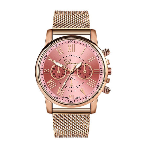 Geneva Gold Band Fashion Watch