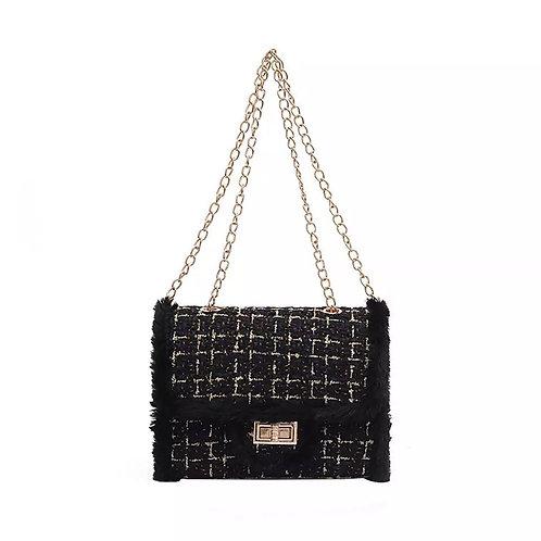 Small Luxury Wool Shoulder Bag