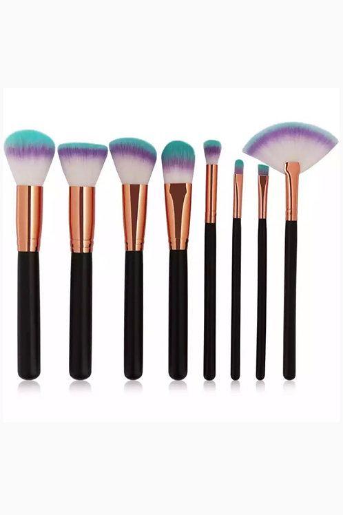8 Pcs Colourful Ends Make-up Brush Set