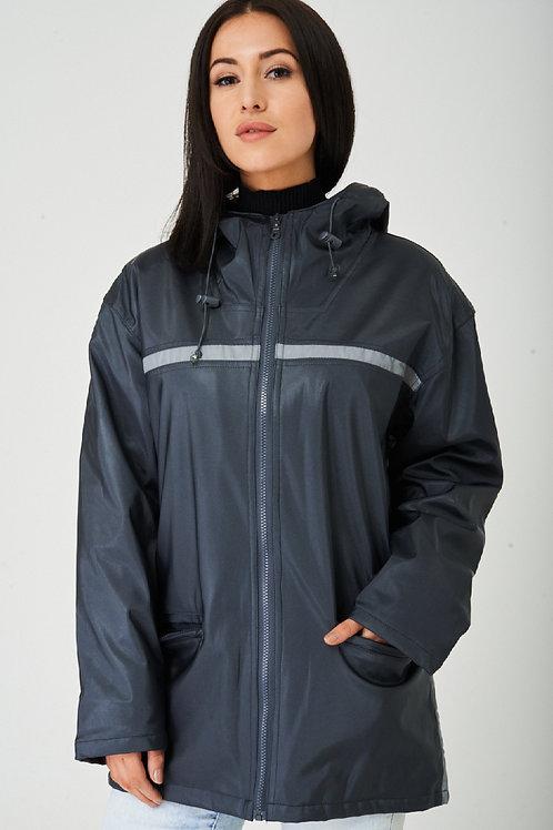 Grey Wax Hooded Jacket