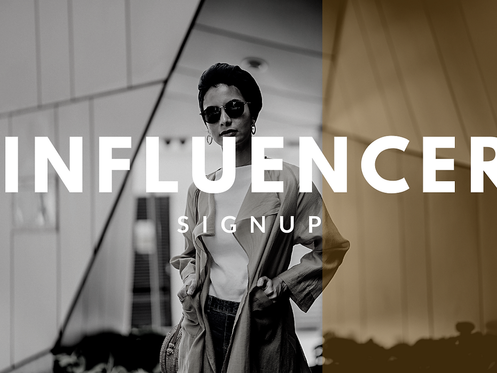 get free stuff to review influencer sign