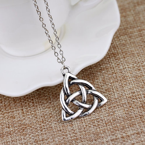 Charmed Triquetra Celtic Knot Chain