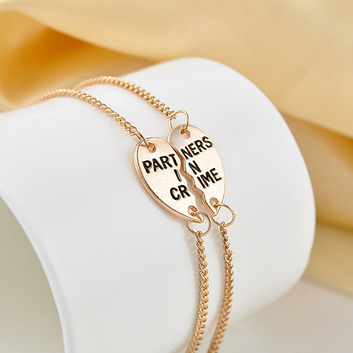 Partners In Crime Friendship Bracelet