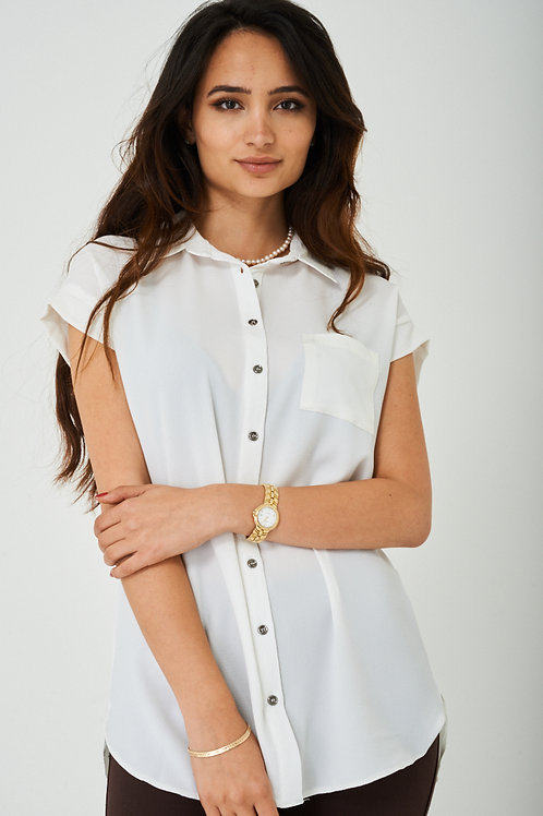 PLUS Longline Shirt in Off-White
