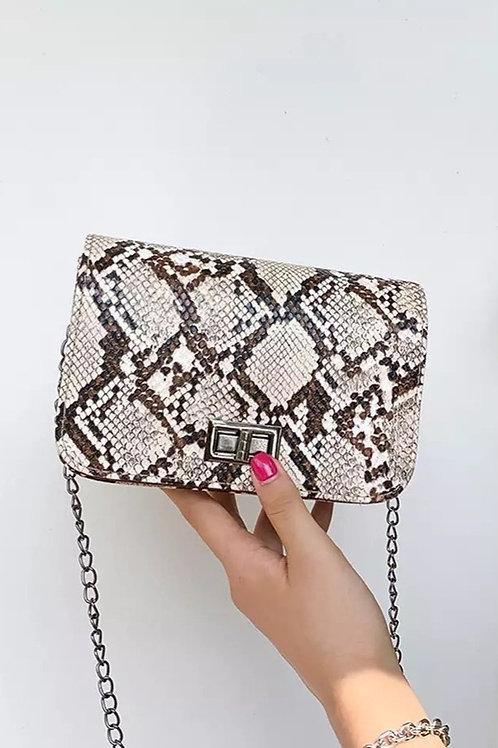 Pretty Dame Snake Clutch Chain Bag