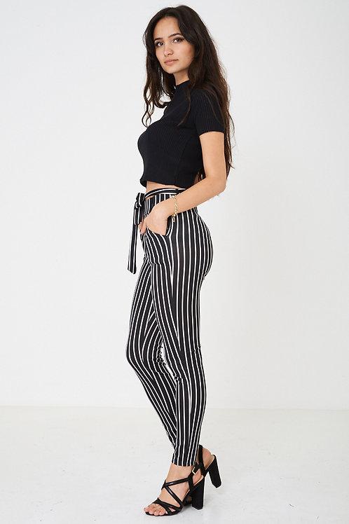 High Waist Legging in Stripes