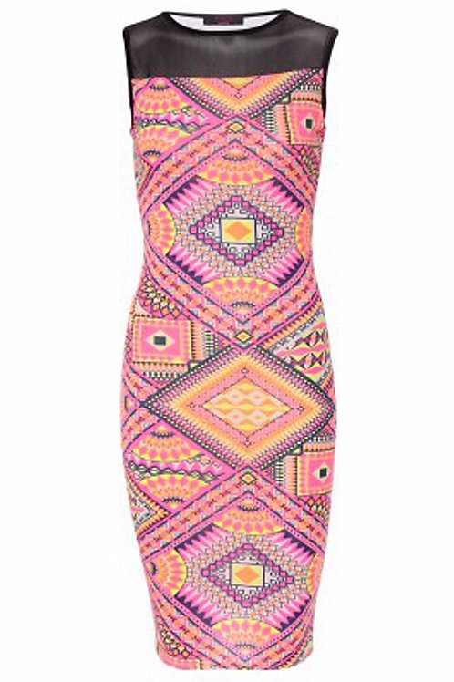 Tribal Style Midi Dress