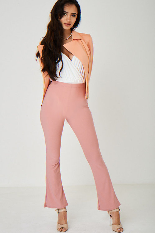 Boot Flare Pink Trousers