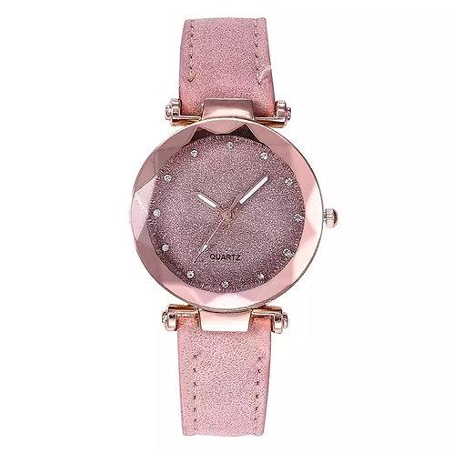 Quartz Pink Glitter Fashion watch