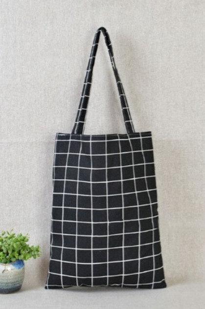 Plaid Cotton Tote Bag