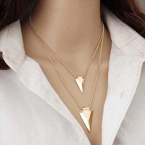 Arrow MultiLayer Gold Chain