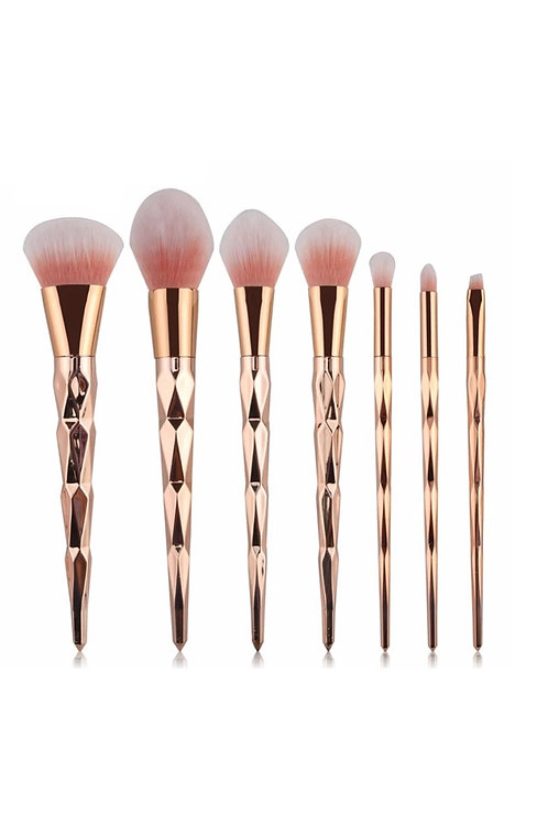 7Pcs Golden Peach Brush Set