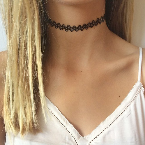 Clasic Retro Tattoo Choker