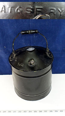 Railroad Oil Can By At - Sf Ry