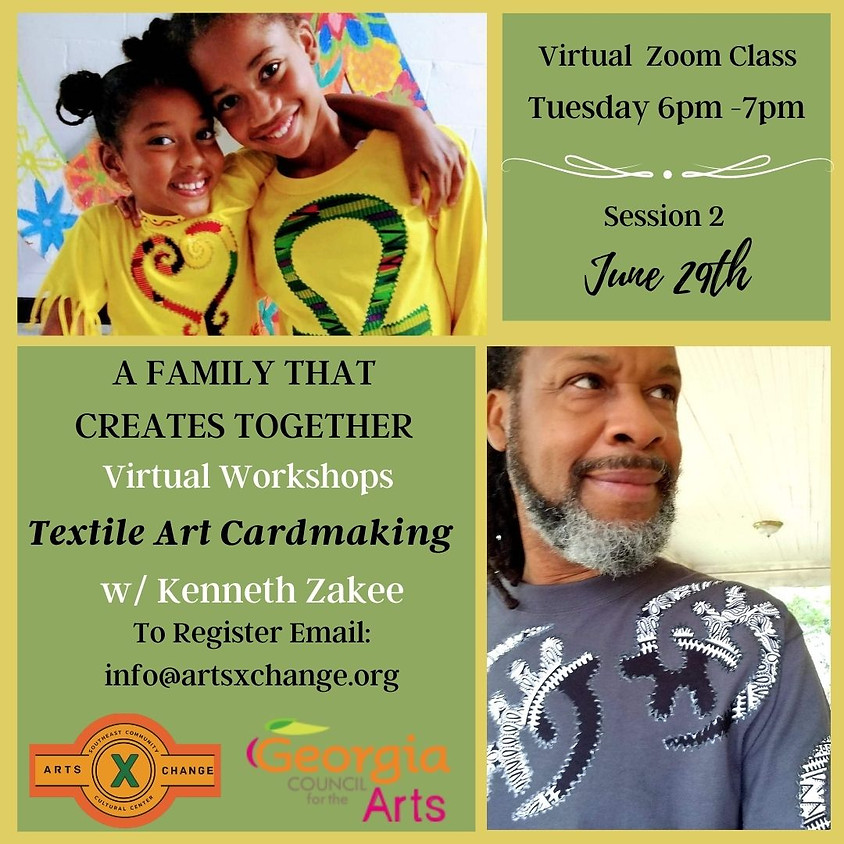 A Family That Creates Together: Textile Art Cards with Zakee