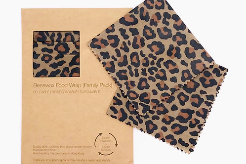 BeeswaxWrap (3 in 1 Family Pack) - Cheetah