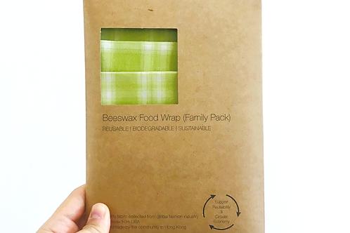 BeeswaxWrap (3 in 1 Family Pack) - Apple Green Garden Plaids