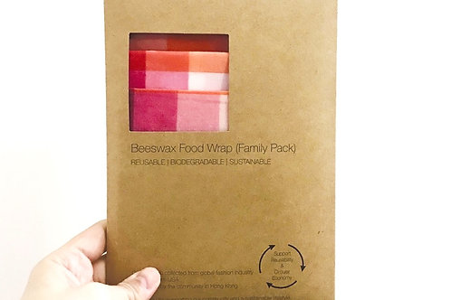 BeeswaxWrap (3 in 1 Family Pack) - Rose Checks