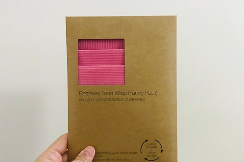 BeeswaxWrap (3 in 1 Family Pack) - Pink Stripe