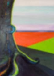 Schilderij, titel: Gehoord, geraakt, gedreven