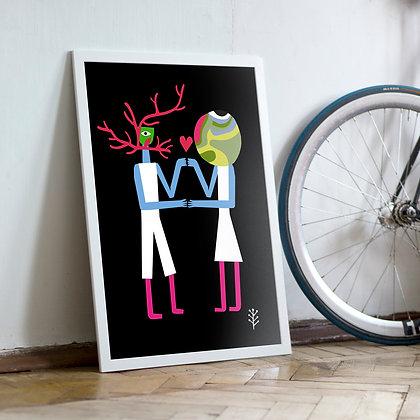 постер на стену Неземная любовь