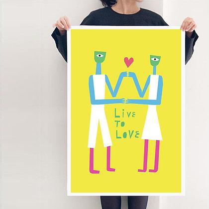 постер на стену Live to Love