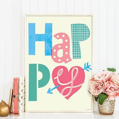 постер на стену Happy
