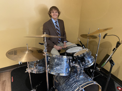 Ben on drums