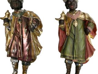 Freilegung und Restaurierung einer alten Fassung einer Krippenfigur