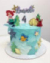 Apaixonada com esse bolo da Ariel 💙_Top