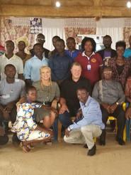 First Church Service in Ghana