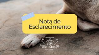 NOTA DE ESCLARECIMENTO: Castração pela Prefeitura de Taquari/RS